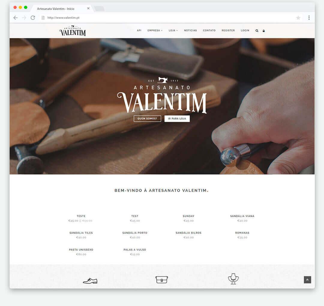 Aparador Conforama ~ Site Responsive, eCommerce Artesanato Valentim Double